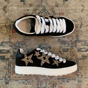 COACH   Star embellished Black Suede sneakers